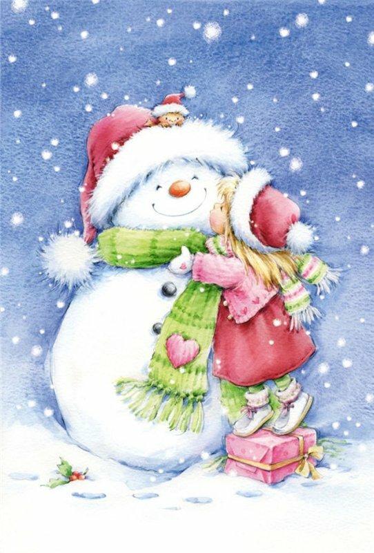 Для, открытка снеговики с новы