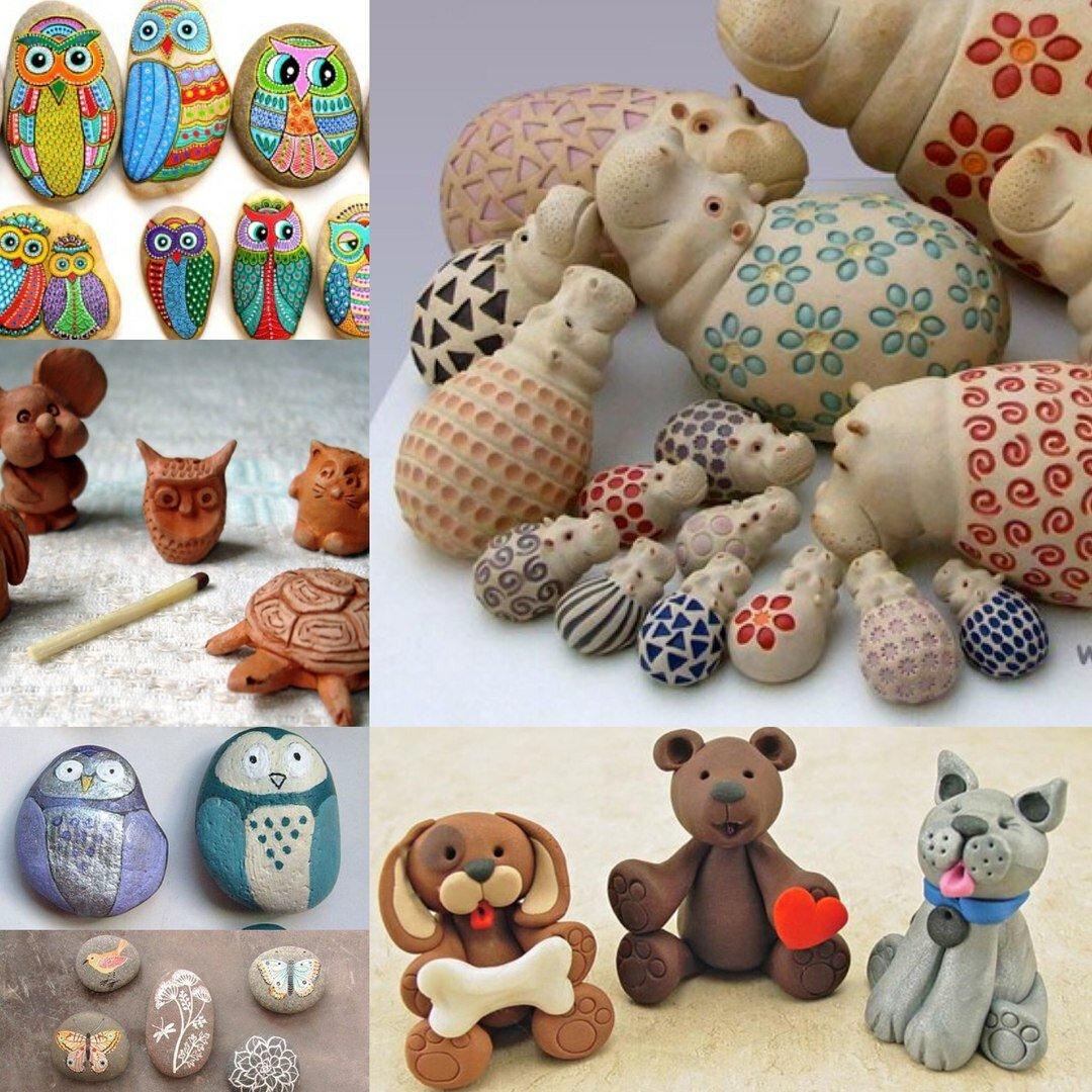 Идеи и картинки по лепке из глины