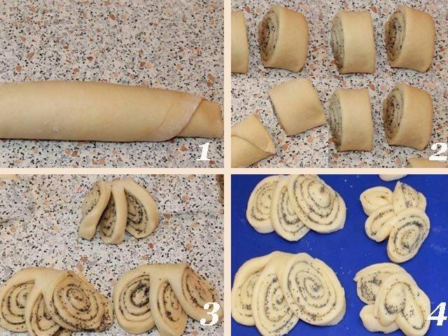 Как красиво слепить булочки фото инструкции