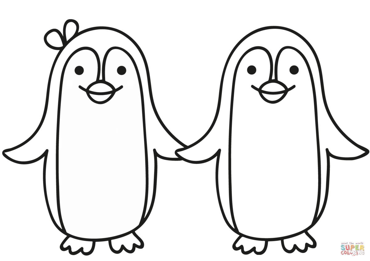 Пингвин раскраска для детей картинки