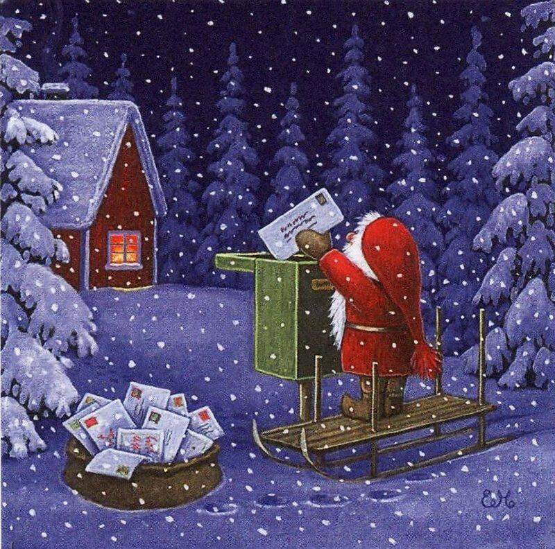 Благодарность аниме, открытки с новым годом и рождеством нарисованные