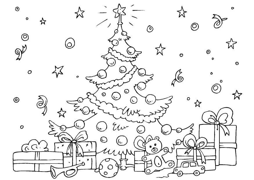 Раскраска открытка с новым годом распечатать