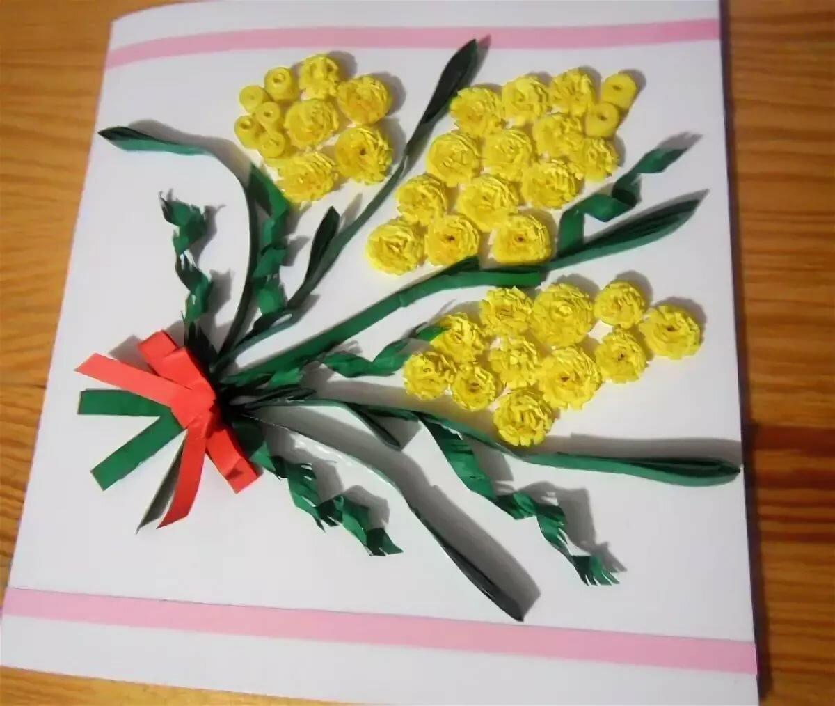 Мимоза открытки своими руками для малышей, для