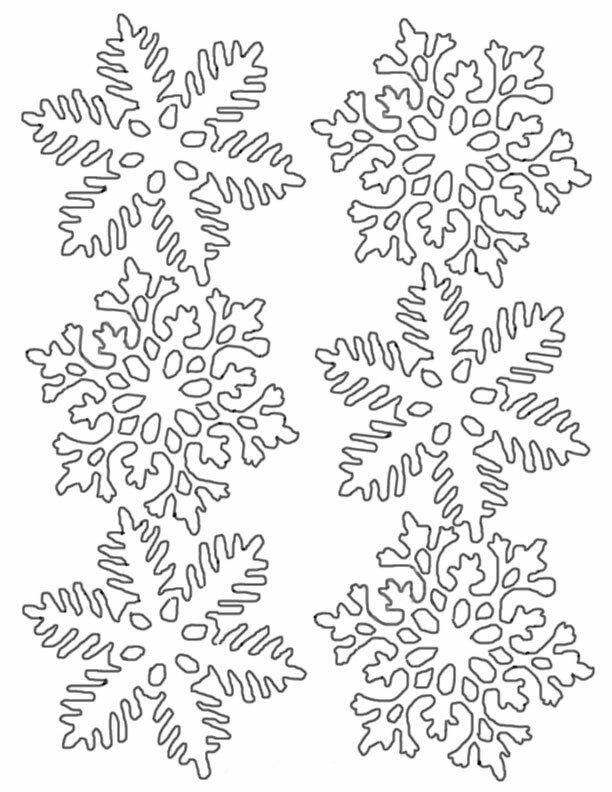 Новогодние снежинки картинки для распечатки на окна