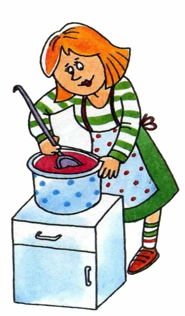 Сюжетная картинка мама готовит обед