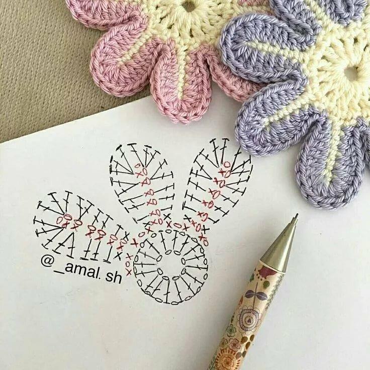 Цветы вязаные крючком картинки и схемы