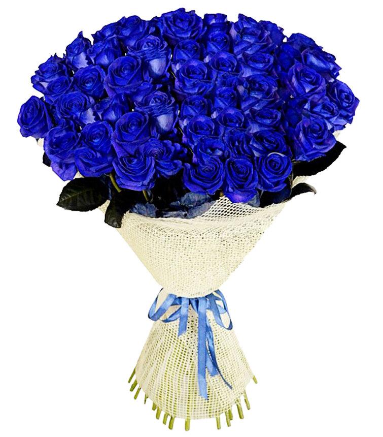Открытки с синими розами, тетя валя
