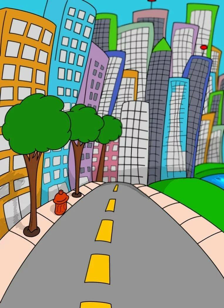 Картинки дороги в городе для детей