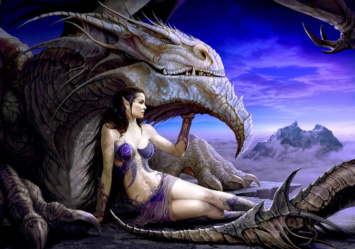 Картинки с девушкой и драконом