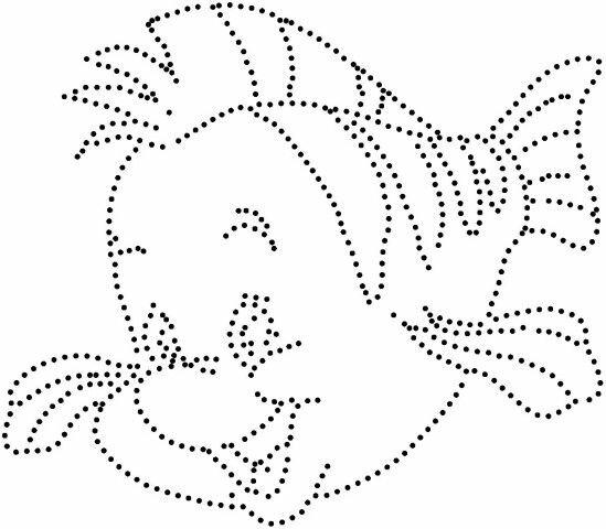 Точечные рисунки контуром трафареты распечатать