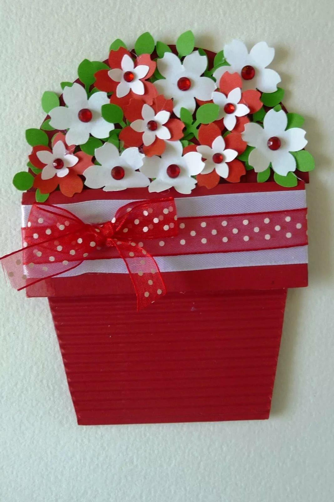 Открытка цветок для ребенка