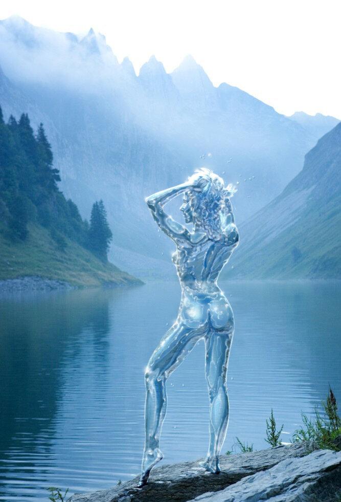 Фигуры из воды картинки