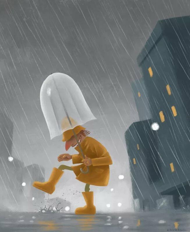 Картинка устала от дождя