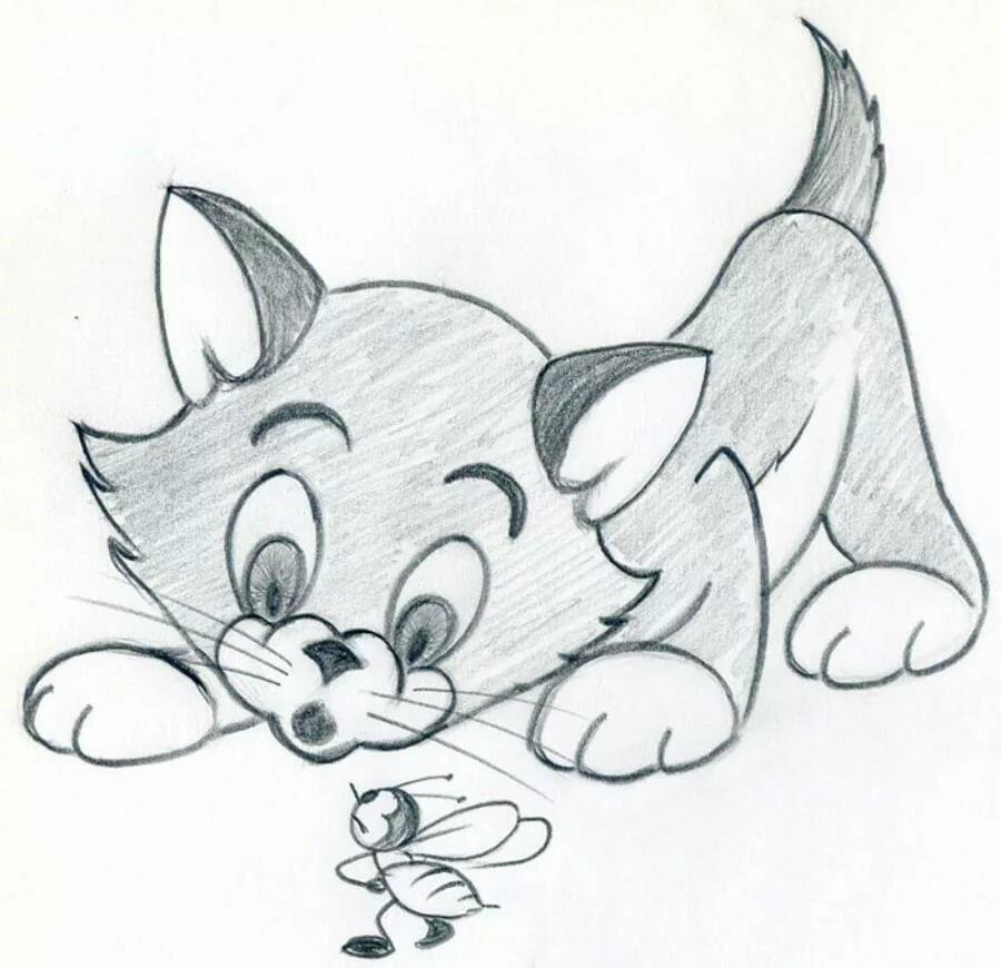 Рисунки для срисовки легкие и красивые картинки животных