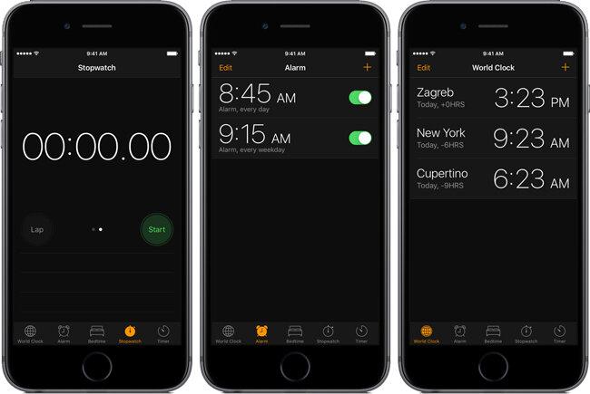 Dark mode interface on iOS 11