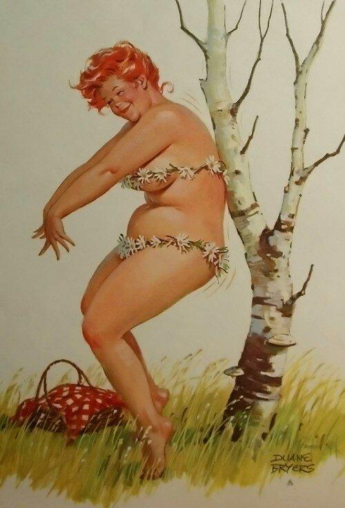 Картинки толстушка на качелях