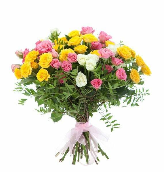 Заказать цветы с доставкой ярославль до 1000р, композиция букет