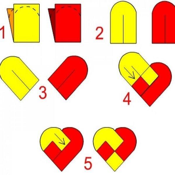 оригами на день святого валентина открытки своими руками перед