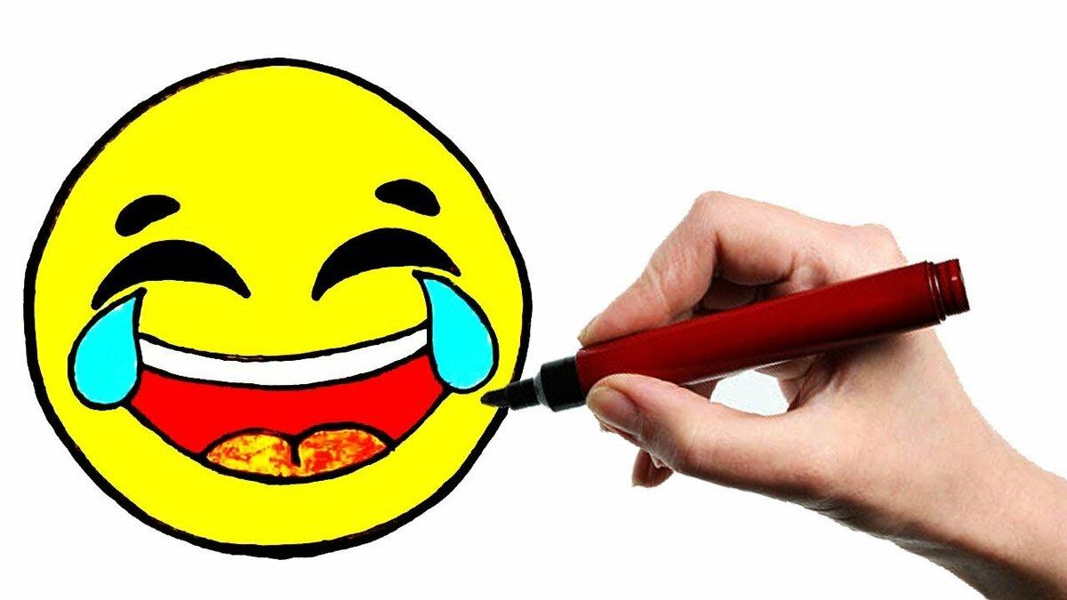 описание картинки смеющийся смайлик карандашом могут визуально