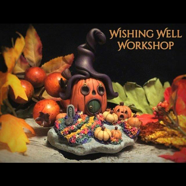 Polymer clay Halloween a house #2! #wishingwellworkshop #halloweenhouse # polymerclay #pumpkin