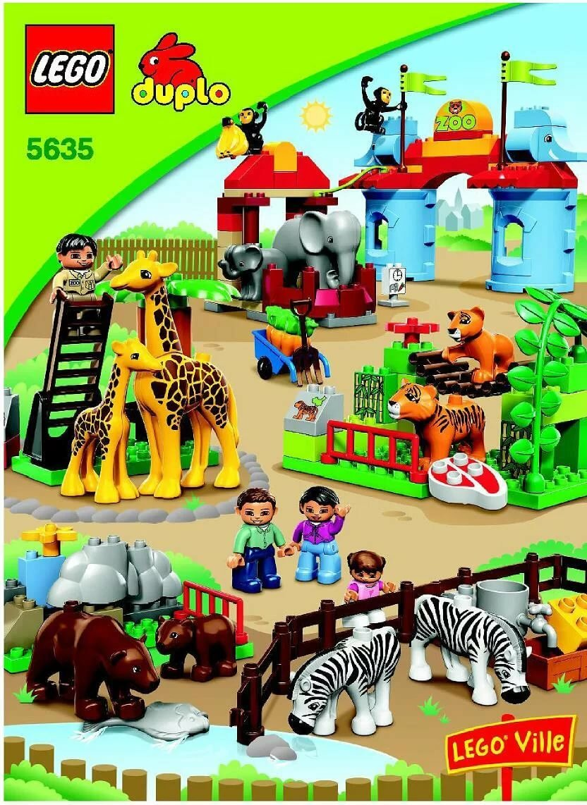 Lego Big City Zoo Instructions 5635 Duplo Card From User Madam