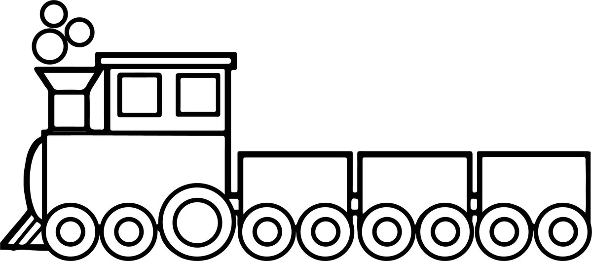 паровоз с вагонами рисунок на прозрачном фоне винчи