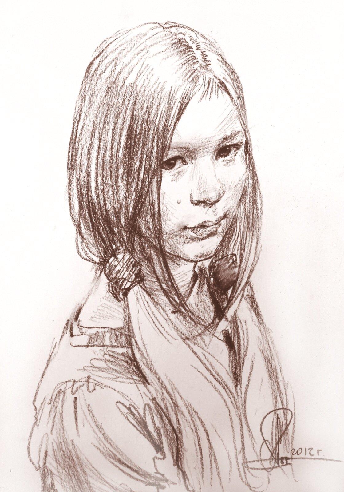 Подростковые рисунки карандашом девушка