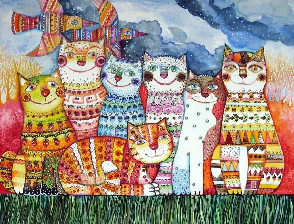 мертвых, коты декоративные картины просто владельцы