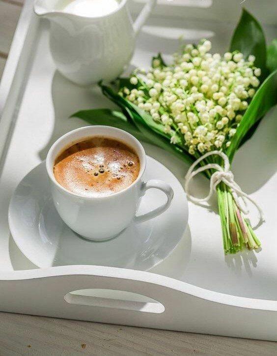 Картинки кофе и чай весенние, день улыбки