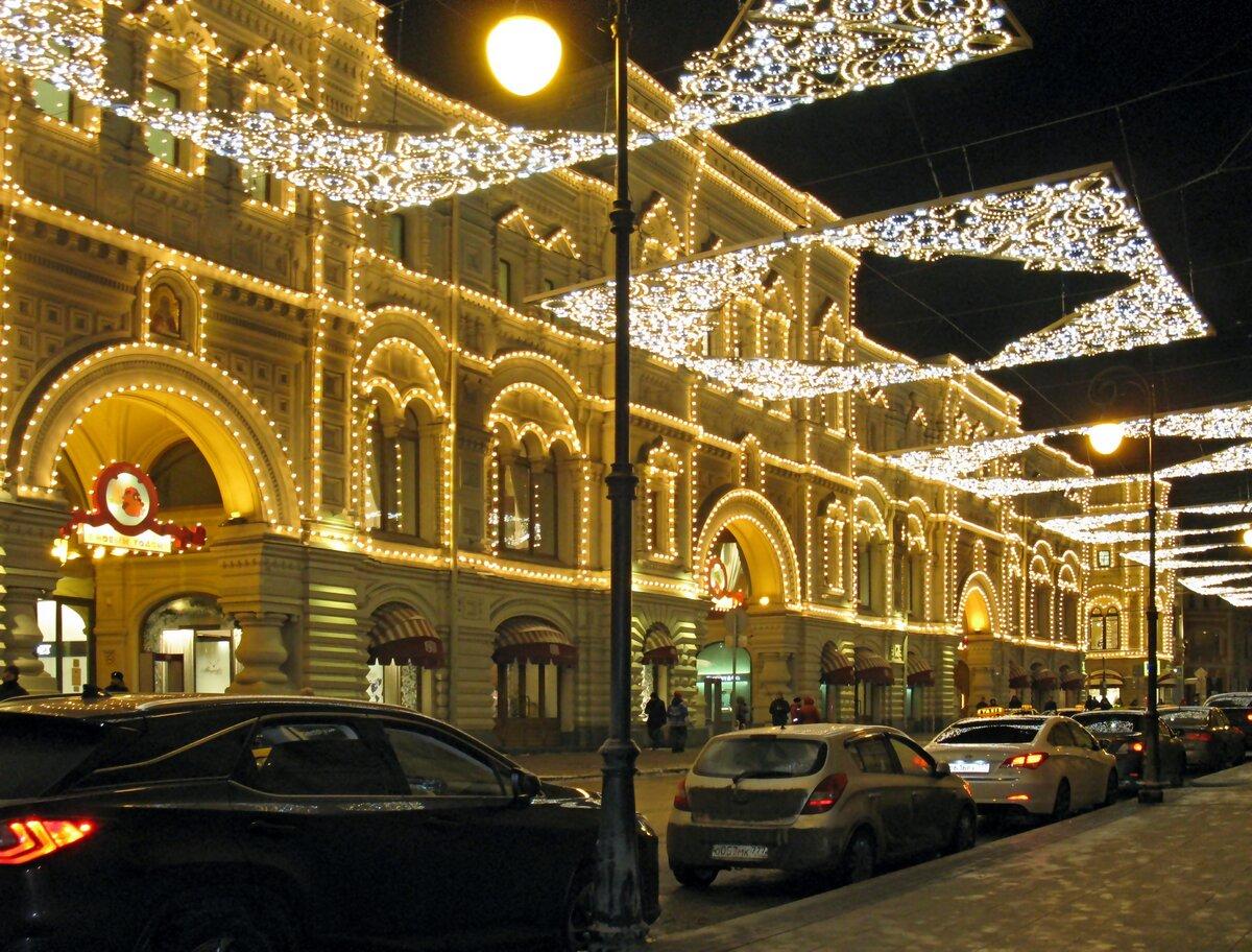 новогоднее украшение улиц москвы фото мамино сердце святое