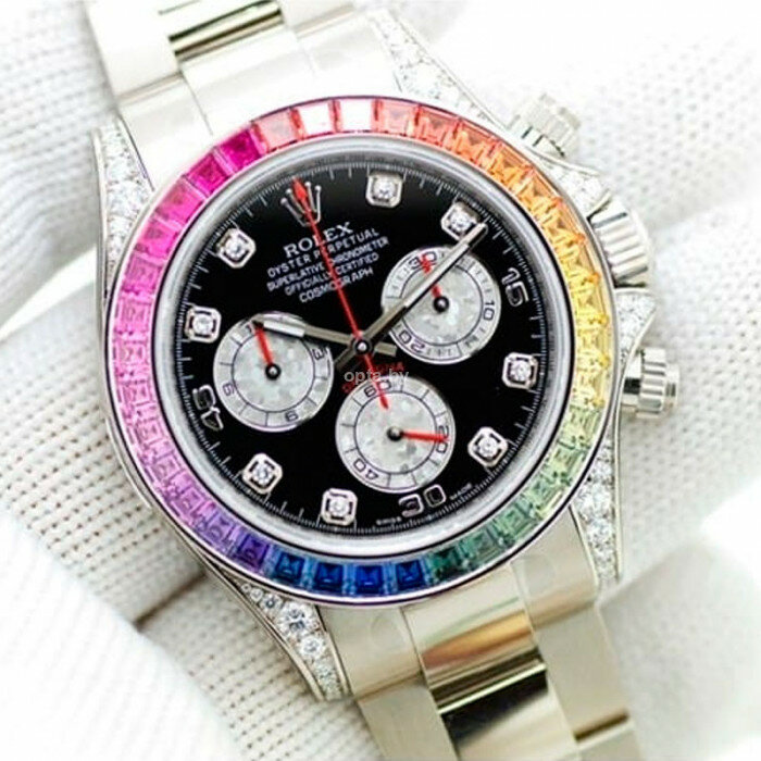 Часы Rolex White Gold Daytona Rainbow в Багратионовске