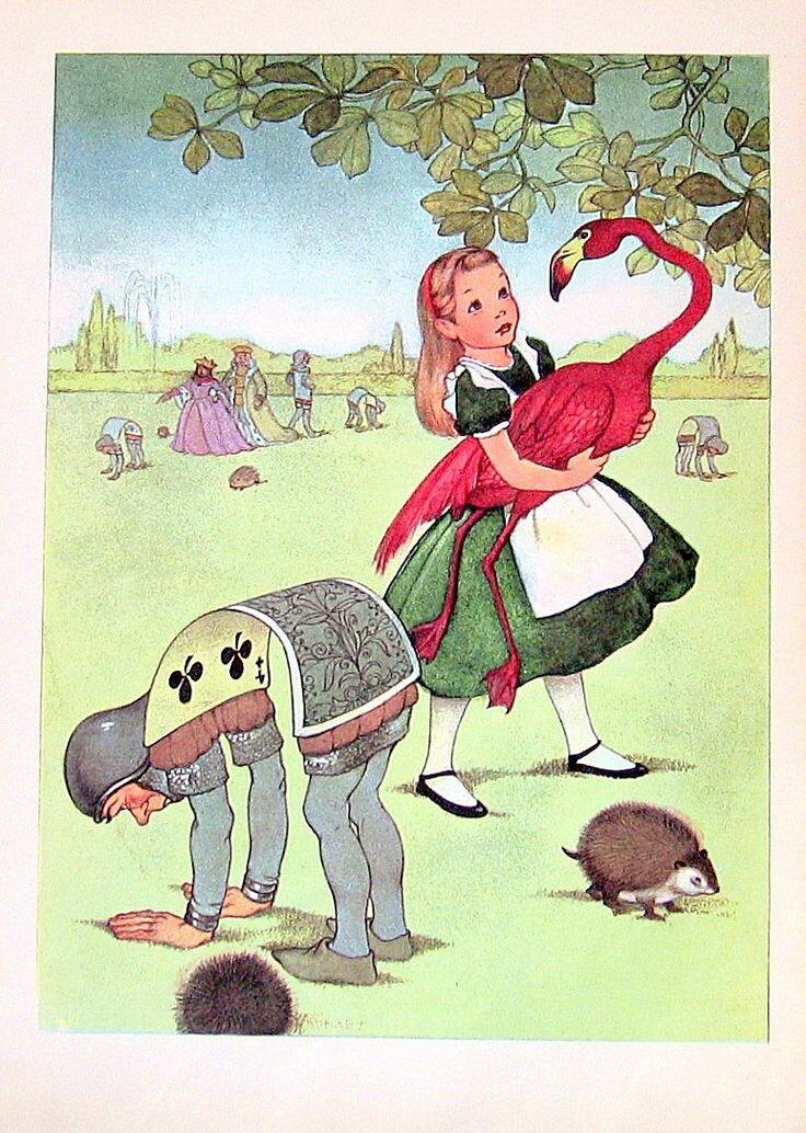Алиса в стране чудес в картинках сказка, днем рождения