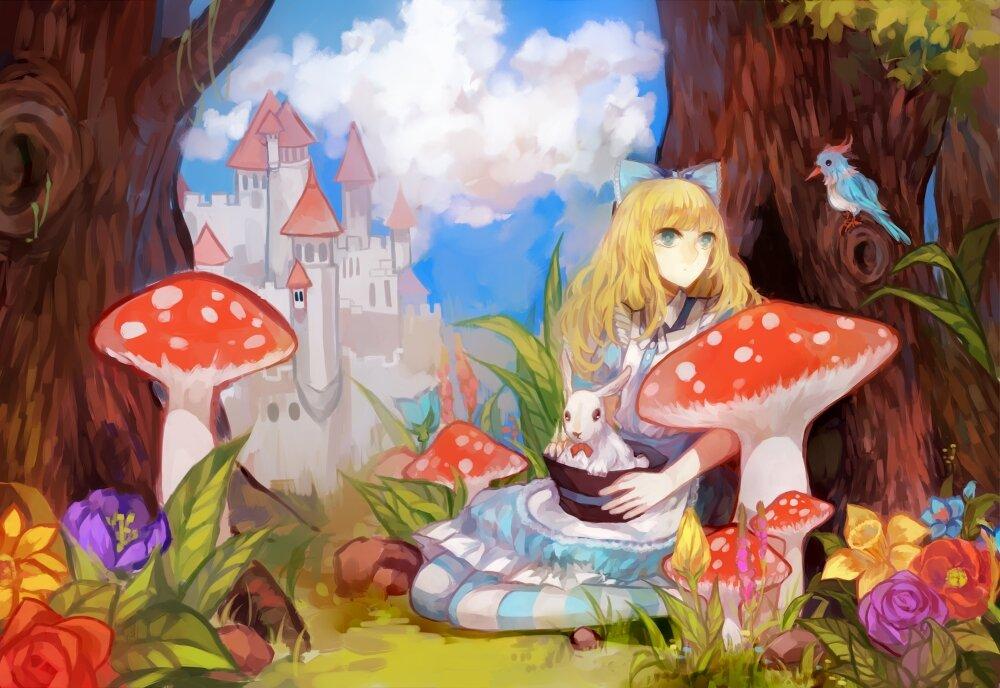 алиса в стране чудес рисунки иллюстрации