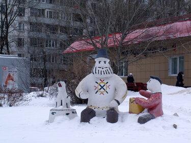 картинки снеговиков-снежных фигур