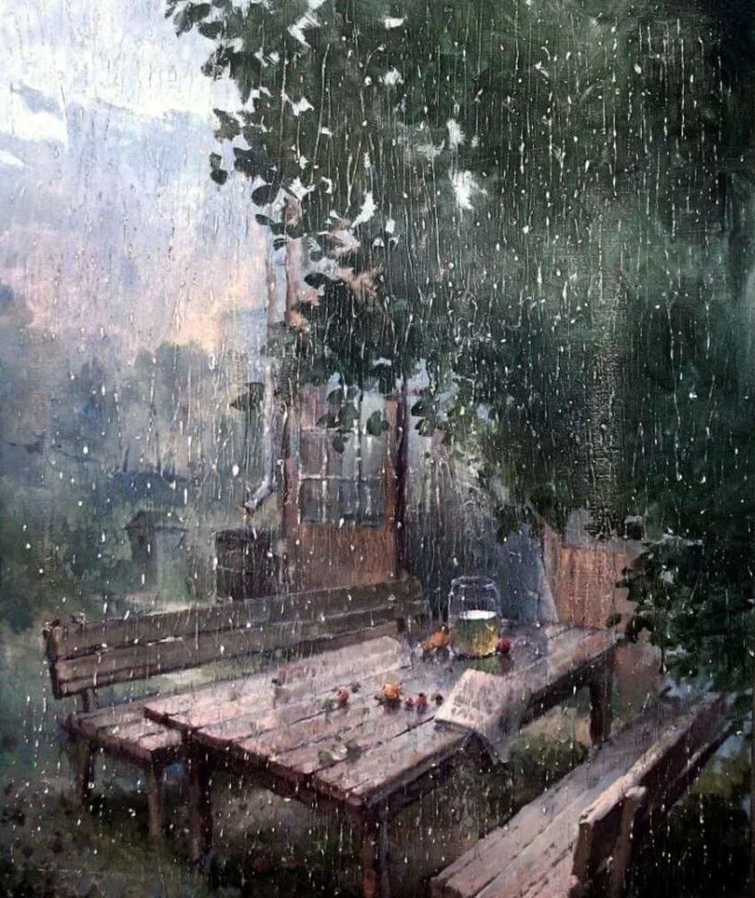 картинки дождливое утро на даче лаковым покрытием только