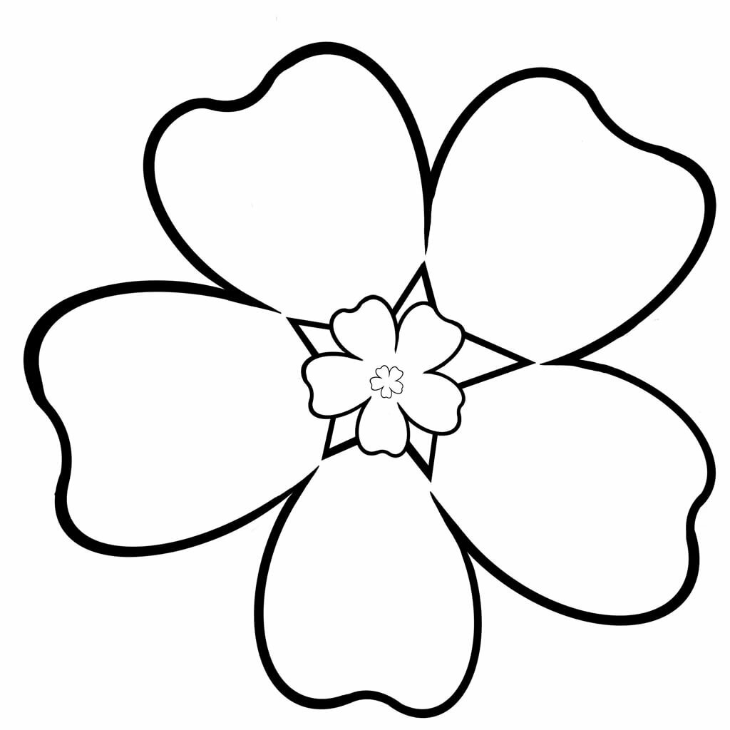 каждый цветы для раскрашивания и вырезания приятные