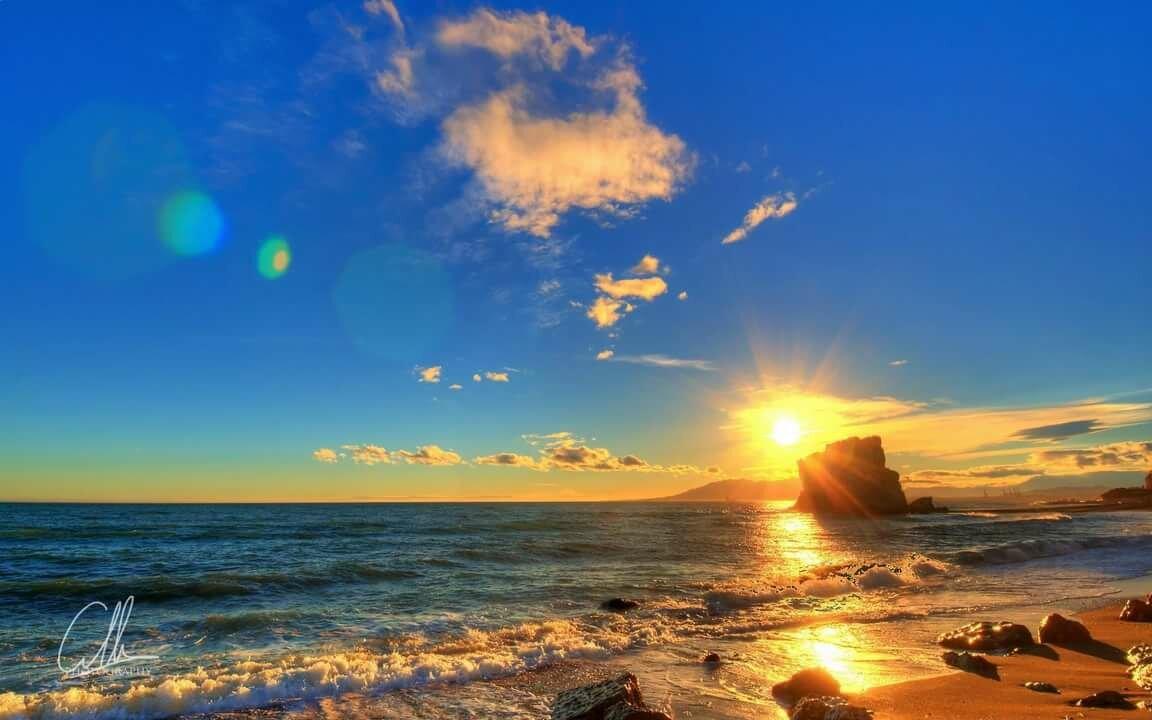 Фото моря и солнце