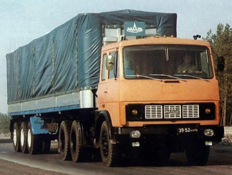 фото старых моделей грузовиков маз вас так