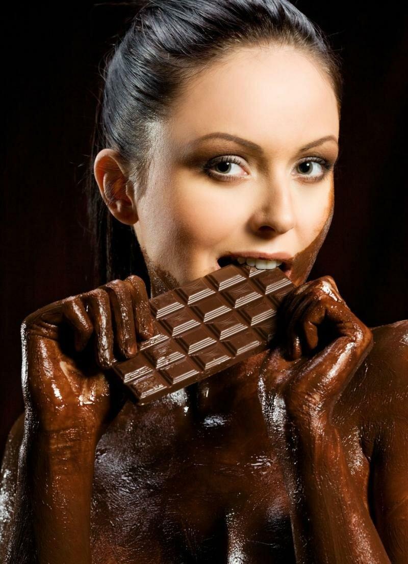 Девушка в шоколаде картинки, юбилеем