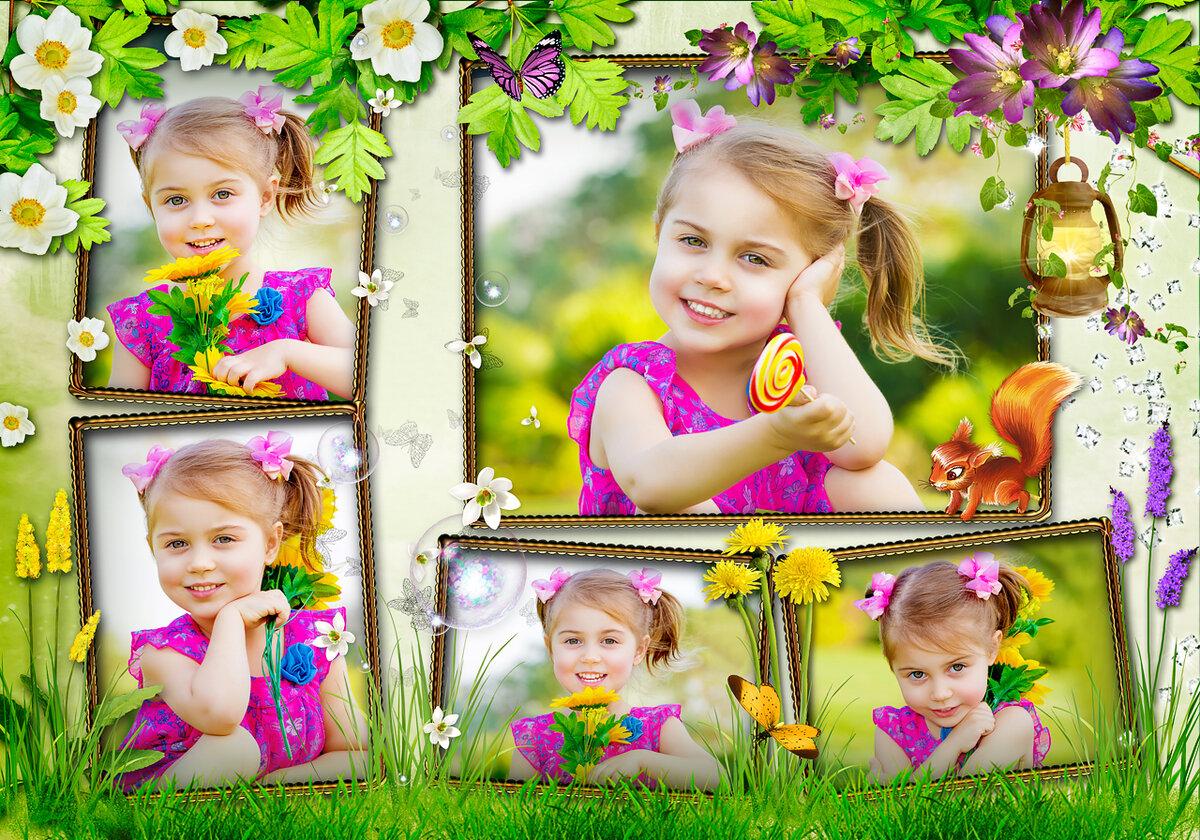 Детские картинки для фото онлайн