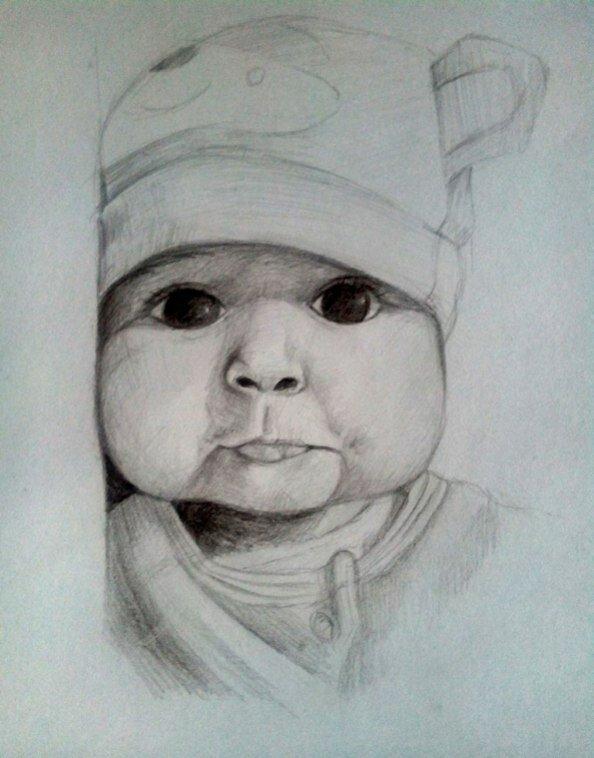 Как рисунки ребенка карандашом прикольные, день рождения