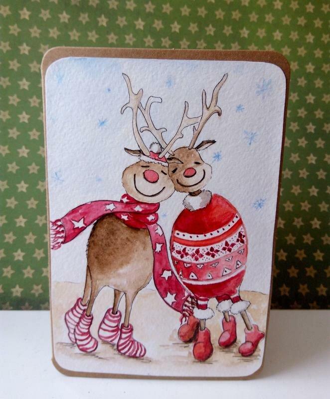 Мужу голосовая, новогодние акварельные открытки олень