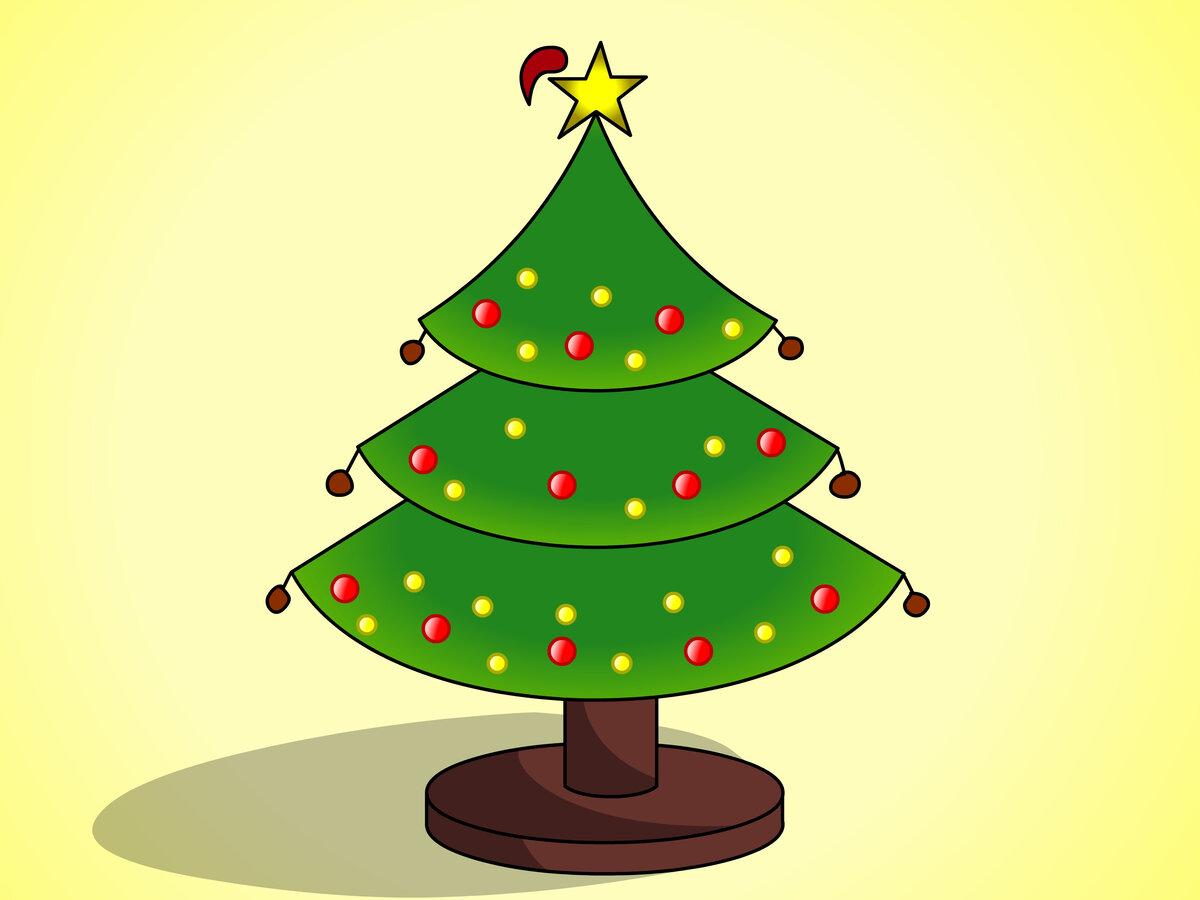 Рисунок новогоднюю елку, ювелирные украшения