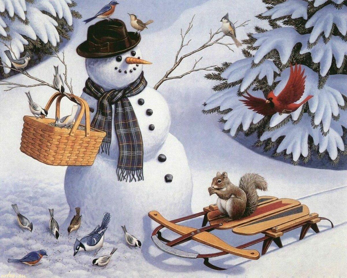 Открытки по теме зима