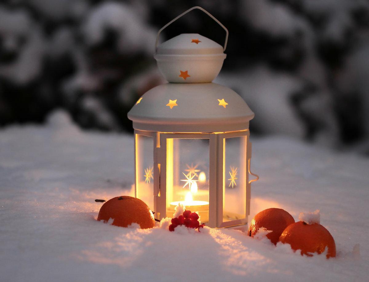 дело фонарь снег картинки празднике