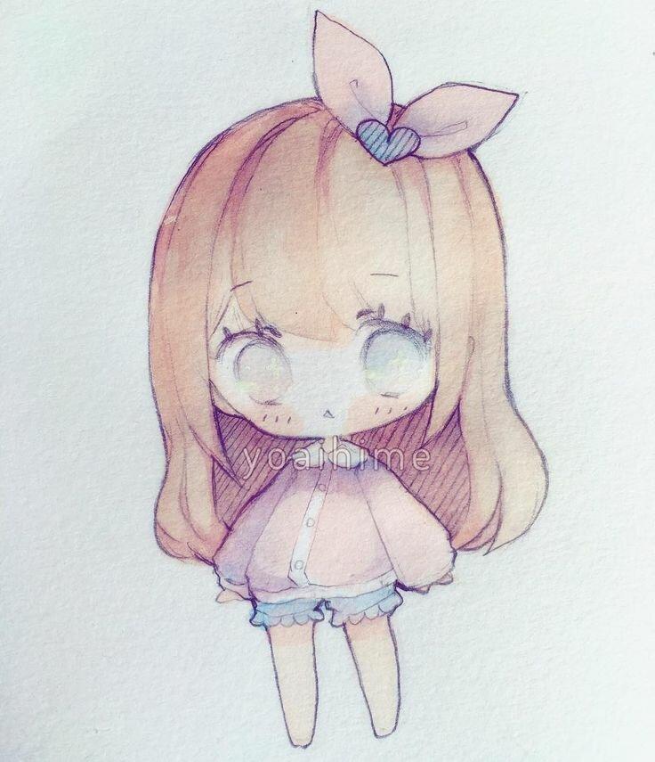 Милые аниме картинки для срисовки