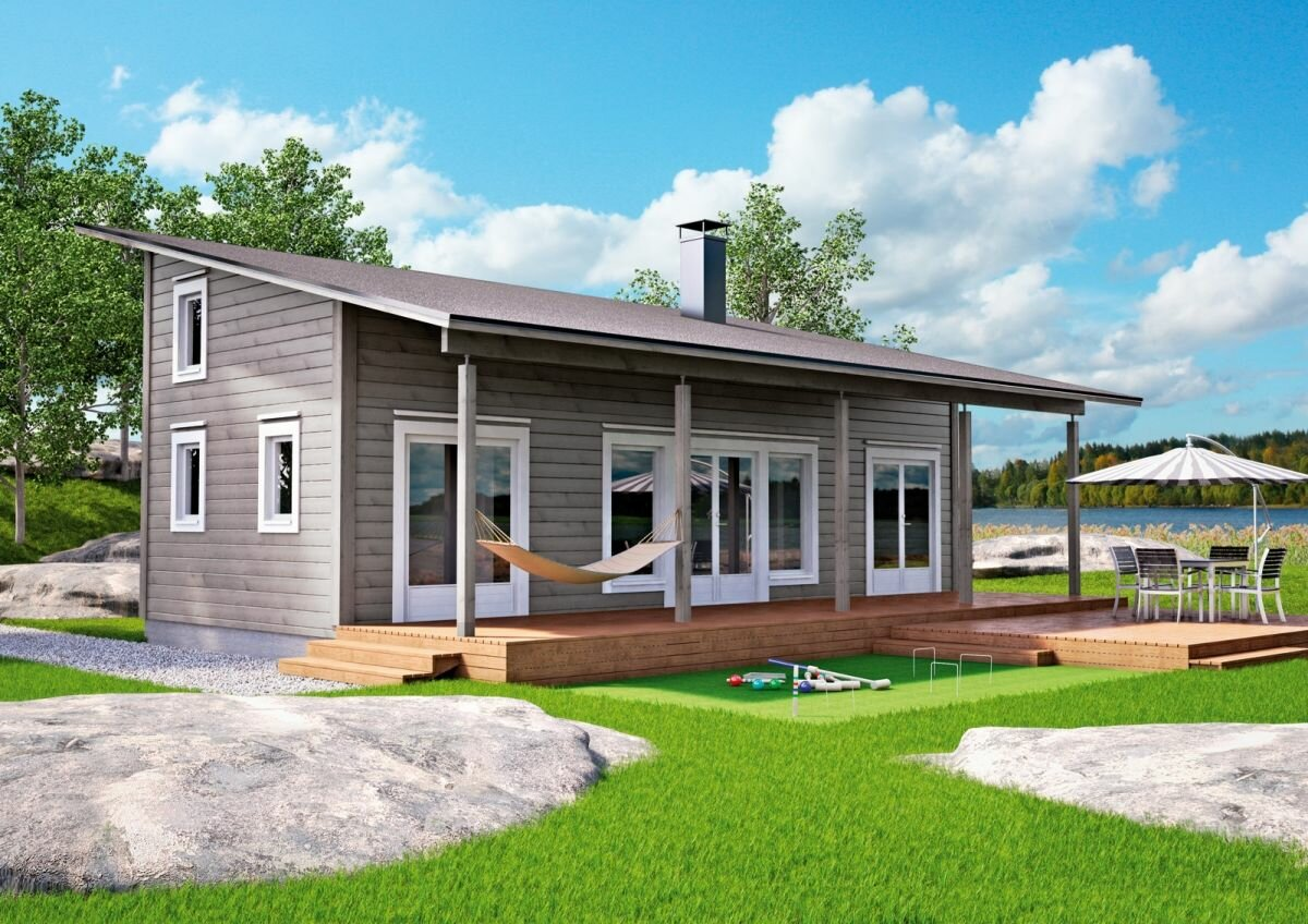 дом с односкатной крышей проекты до 100