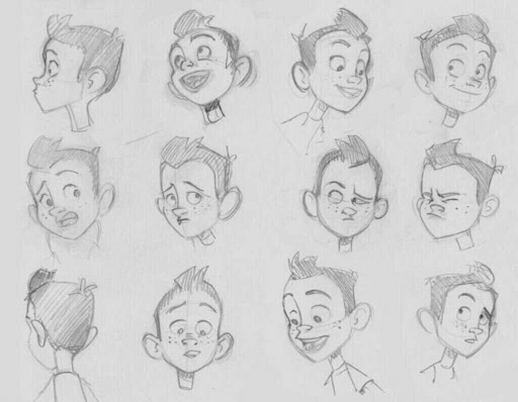 Мимика лица рисунок