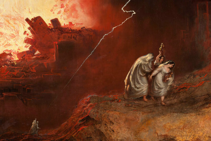 Джон Мартин. Разрушение Содома и Гоморры. (Бегство Лота с дочерьми)