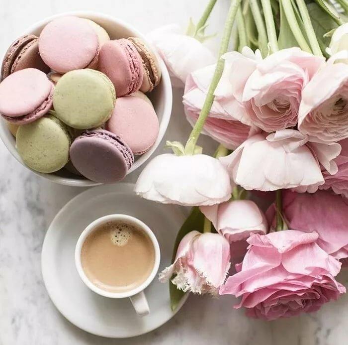 Нежная картинка доброе утро кофе цветочек